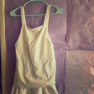 Sabo Skirt White & Black Stripe Small Playsuit